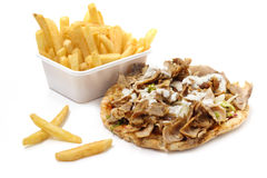 Kebab with yogurt sauce Stock Image