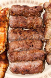 Kebaber och fegt bröst på gallret Royaltyfria Bilder