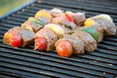 Kebaber på gallret Royaltyfria Bilder