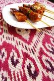 Kebabs亚洲人样式 库存图片