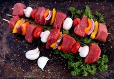 kebabs говядины Стоковое Фото