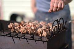 Kebabs сварены outdoors стоковая фотография