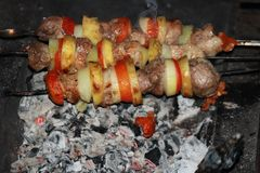 kebabs obraz royalty free