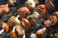 Kebabs Foto de Stock Royalty Free