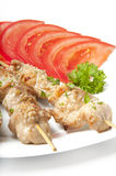 Kebabs. From a chicken fillet Stock Image