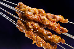Kebabs. The background of cooked Kebabs Royalty Free Stock Photos
