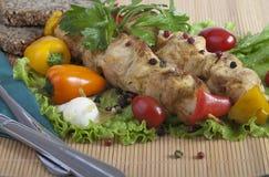 Kebabs asados a la parrilla Fotografía de archivo libre de regalías