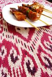 Kebabs asian style stock images