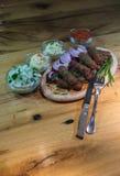 Kebabs - carne asada a la parrilla imagen de archivo