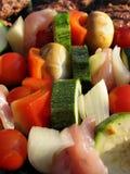 Kebabs crepitantes Imagem de Stock