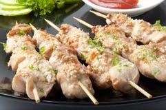 Kebabs da galinha Foto de Stock