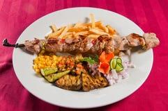 Kebabs de la ternera Foto de archivo
