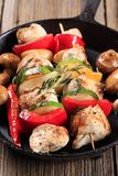 Kebabs de poulet Image stock