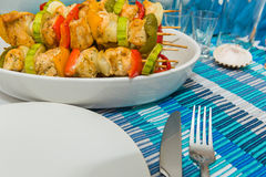 Kebabs de Shish imágenes de archivo libres de regalías