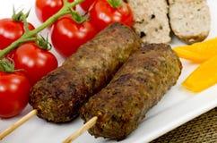 Kebabs del cordero fotos de archivo