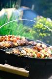 Kebabs del pollo y del cordero Foto de archivo libre de regalías