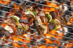 Kebabs deliciosos asados a la parilla Fotografía de archivo libre de regalías