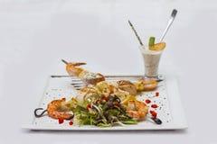 Kebabs deliciosos del camarón Imagenes de archivo