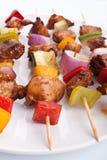 Kebabs della carne e della verdura Fotografia Stock Libera da Diritti