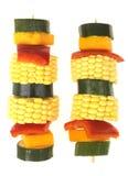 Kebabs di verdure immagini stock