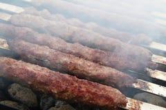Kebabs en parrilla foto de archivo libre de regalías