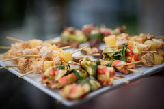 Kebabs en Voedsel Royalty-vrije Stock Fotografie