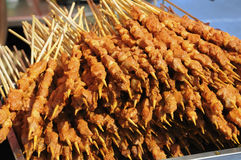 Kebabs on gridiron Stock Photography