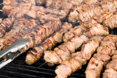 Kebabs on the grill Stock Images