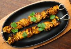 Kebabs indios de Tikka del pollo Foto de archivo