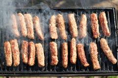 Kebabs na grade do assado Fotografia de Stock