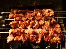Kebabs på gallret Royaltyfria Bilder
