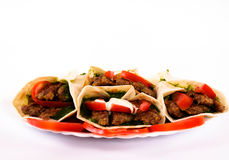 Kebabs on the plate Royalty Free Stock Photos