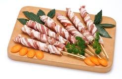 Kebabs of pork Stock Photos