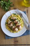 Kebabs with rice Royalty Free Stock Photo