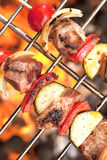 Kebabs Shish на гриле Стоковая Фотография