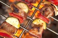 Kebabs Shish на гриле Стоковое Изображение