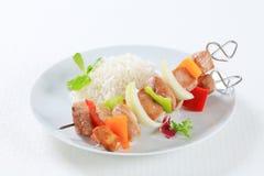 Kebabs Shish с рисом Стоковые Фотографии RF