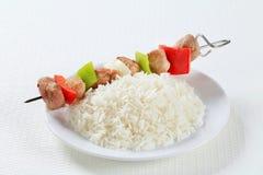 Kebabs Shish с рисом Стоковые Изображения