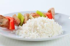 Kebabs Shish с рисом Стоковая Фотография RF