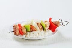 Kebabs Shish с рисом Стоковое фото RF
