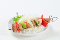 Kebabs Shish с рисом Стоковое Изображение RF