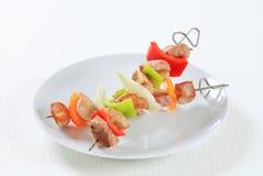 2 kebabs Shish Стоковые Фотографии RF