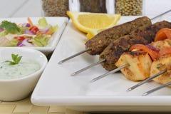 Kebabs on Skewers stock image