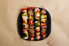Kebabs. Stock image of grilled beef and chicken kebabs Stock Image