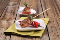 Kebabs triturados da carne fotos de stock royalty free