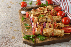 Kebabs with turkey fillet Stock Images