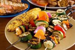 Kebabs végétaux photographie stock libre de droits
