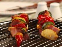 Kebabs végétaux de shish Photographie stock