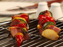 kebabsshishgrönsak arkivbild