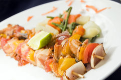 kebabu Nicaragua garneli styl Zdjęcie Royalty Free